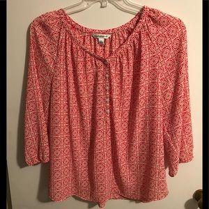Draped blouse